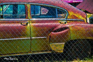 Chartreuse & Magenta Car