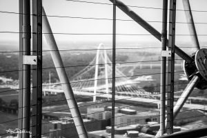 Tower View (of Bridge) Black & White