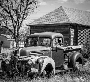 Marfa B&W Truck