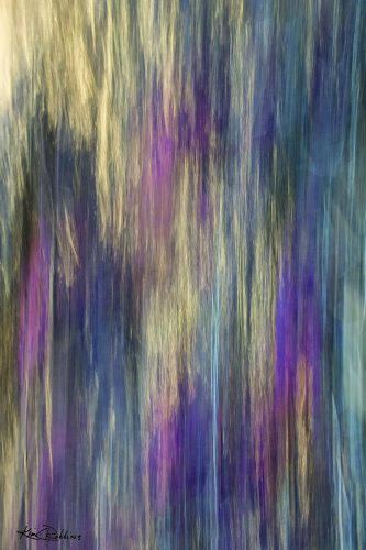 Gold, Purple & Turquoise Abstract