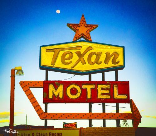 Texan Motel by Moonlight