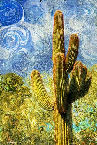 Saguaro on Blue Sky